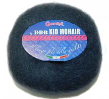 Пряжа Kid Mohair (Кид мохер) цвет 7080 серо-синий