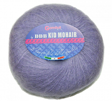 Пряжа Kid Mohair (Кид мохер) цвет 0126 светло-фиолетовый