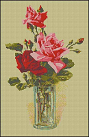"""Набор для вышивания """"Розы в вазе"""""""