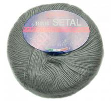 Пряжа Сетал (Setal), цвет  302 серый жемчуг