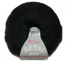 Пряжа Сетал (Setal), цвет  200 черный