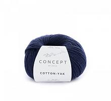 Пряжа Cotton-Yak (Коттон-Як), цвет 115 темно-синий