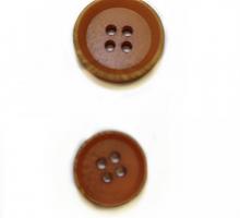 Пуговица 15 мм коричневая