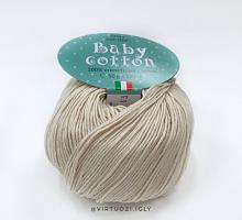 Бэби Коттон бобинный (100% мерсеризованный хлопок, 360м/100г) 03 льняной
