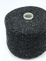 Сета Буретте 2/14 (100% шёлк буретт, 700м/100г) 203 черно-белый