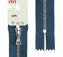 Молния riri атлас.,неразъем., 1замок 4мм,16см, подвеска FLASH, Ni, цвет темно-синий