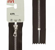 Молния riri атлас. ,неразъем., 1замок 4мм,18см, подвеска FLASH, Ni, цвет 2226 темно-коричневый