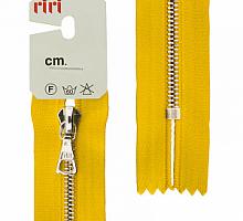Молния riri (рири) атлас.,неразъем., 1замок 4мм,18см,  подвеска FLASH,  Ni, 5339 цвет ярко-желтый