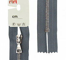 Молния riri атлас. ,неразъем., 1замок 4мм,18см, подвеска FLASH,  Ni, цвет 2121 серый стальной
