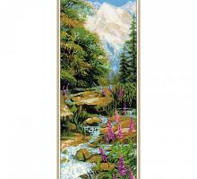 """Набор для вышивания арт.CС-1487 """"Горный ручей"""" 20х50 см"""