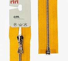 Молния riri атлас. никель,разъем., 1замок 4мм, 65см, тип подвески FLASH, цвет цепи Ni, цвет ярко-желтый