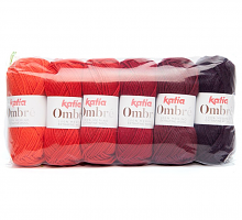 Пряжа OMBRE (Омбре) оттенки красного
