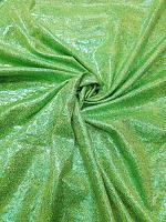 Трикотаж диско зеленое яблоко