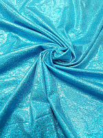 Трикотаж диско голубой