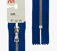 Молнии RIRI-4мм, металл. Ni, атлас, 16 см и 18 см,  неразъемн.,