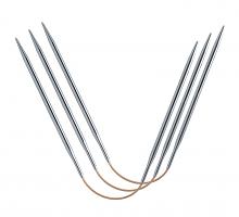 Спицы чулочные гибкие addiCraSyTrio Long,  крэзитрио лонг, супергладкие,, 26 см