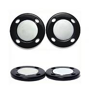 Кнопка магнитная черная, 25 мм.