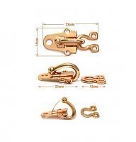 Крючок-клипса декоративный малый г294-золото
