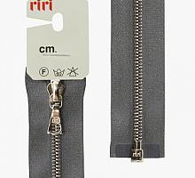 Молния riri атлас. никель,разъем., 1замок 4мм, 60см, тип подвески FLASH, цвет цепи Ni, цвет серый стальной