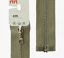 Молния riri атлас. никель,разъем., 1замок 4мм, 60см, тип подвески FLASH, цвет цепи Ni, цвет серо-зеленый