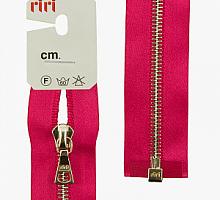 Молния riri атлас. никель,разъем., 1замок 4мм, 65см, тип подвески FLASH, цвет цепи Ni, цвет  малиновый