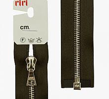 Молния riri атлас. никель,разъем., 1замок 4мм, 60см, тип подвески FLASH, цвет цепи Ni, цвет темно-коричневый