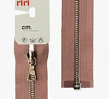 Молния riri атлас. никель,разъем., 1замок 4мм, 60см, тип подвески FLASH, цвет цепи Ni, цвет темно-сиреневый