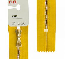 Молния riri 4мм, атлас., золото, неразъем.,   16см, подвеска FLASH, ярко-желтый