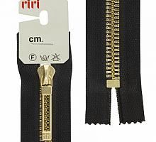 МОЛНИИ RIRI TOP металл-6мм, золото, слайдер STAB 16 см черная