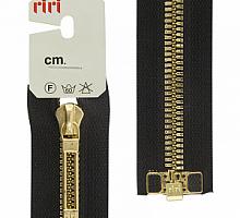 МОЛНИИ RIRI TOP металл-6мм, золото, слайдер STAB 60 см черная