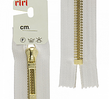 МОЛНИИ RIRI TOP металл-6мм, золото, слайдер STAB 16 см белая