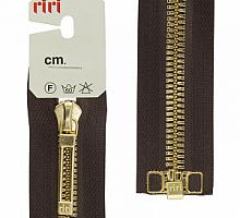 МОЛНИИ RIRI TOP металл-6мм, золото, слайдер STAB 60 см шоколадная