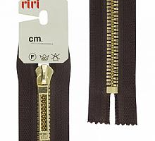 МОЛНИИ RIRI TOP металл-6мм, золото, слайдер STAB 16 см шоколадная