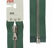 Молнии RIRI металл. NI, 6 мм, 60 см, на атласе, 1 замок разъем, подвеска FLASH 5861 хвоя