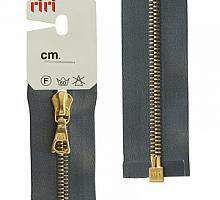 МОЛНИЯ металл, золото, разъем 1 замок, на атласе, 4 мм, 70 см, цвет 2121 стальной