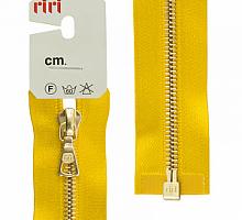 МОЛНИЯ металл, золото, разъем 1 замок, на атласе, 4 мм, 70 см, цвет 5339 желтый