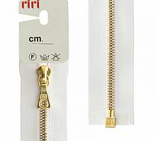 МОЛНИЯ металл, золото, разъем 1 замок, на атласе, 4 мм, 70 см, цвет 2101 белый