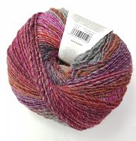 Пряжа Azteca Fine  (Ацтека Файн)цвет 221 фуксия-брусника-серо-оранж