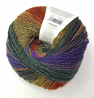 Пряжа Azteca Fine  (Ацтека Файн)цвет 220 охра-горчица-фиолет-хаки-терракот