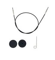 Тросик (заглушки 2шт, ключик) для съемных спиц, длина 56 (80)см