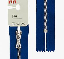 Молния riri атлас. ,неразъем., 1замок 4мм,16см,  подвески FLASH,  Ni, цвет светло-синий