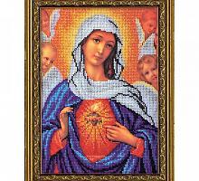 """В-192 Набор для вышивания бисером """"Дева Мария"""" 19х27 см"""