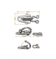 Крючок-клипса  декоративный малый г294-никель
