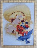 """Набор для вышивания """"Девочка с голубем"""""""