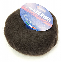 Пряжа Kid Mohair (Кид мохер) 0104 темно-коричневый