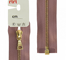 МОЛНИЯ металл, золото, разъем 1 замок, на атласе, 4 мм, 70 см, цвет 9419 серо-сиреневый