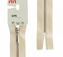Молния RIRI ТОП-СТАР металл неразъемная, 3 мм, 18 см, тип подвески TROPF, цвет цепи Ni, цвет 2230 бежевый
