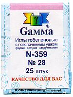 """Иглы для шитья ручные """"Gamma"""" гобеленовые гобеленовые №28 N-359 в конверте 25 шт."""