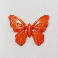 Пуговица на прокол, оранжевая бабочка 23 мм