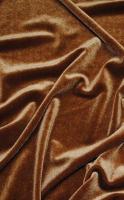 Бархат стрейч  коричневый